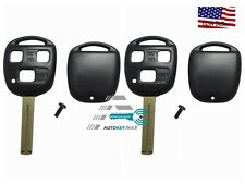 2 New Replacement Key Case Shell Keyless Remote Fob Uncut Blade Fix Master