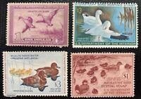 US Federal Duck Lot: SC#RW5 RW8 RW27 RW37 Nice 4 Duck Stamps CV:$180