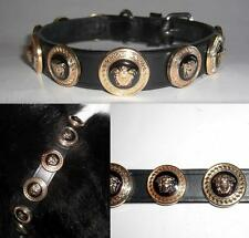 Versace Medusa Cabeza Tachonado diseñador collar de perro-GRAN TAMAÑO-FITS 14-16 in Neck
