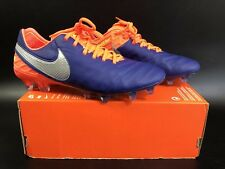 NIKE TIEMPO LEGEND VI FG DEEP ROYAL BLUE/CHROME SIZE UK6/US7/EUR40 819177-409
