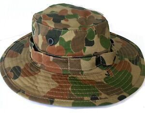 TACTICAL AUSCAM BOONIE HAT 100% COTTON DOUBLE LAYER BRIM SIZES SMALL TO XLARGE
