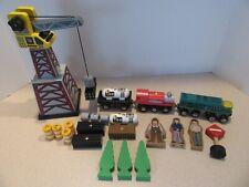 Lot Imaginarium Thomas Train Crane People Trees Cargo Brio