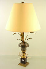 French Vintage 1960 Brass leaves table lamp mid-century vintage