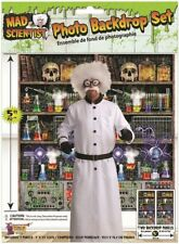 Large Mad Science Photo Selfie Backdrop Scene Setter Halloween Party Decoration