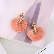 ed00536c Pink Sector Rope Tassel Drop Earrings New 2018 Summer Holiday Gift