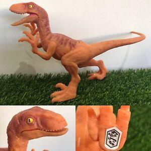Mattel Jurassic World Attack Pack Velociraptor Orange Dinosaur Toy Figure Raptor