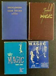 4 Magic Books: Ency. Card Tricks '40, Tarbell Vol 1 '41, Secrets '45, Rigney '64