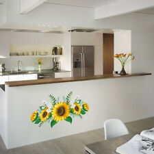 Adhesive Sunflower Wall Sticker Waterproof Removable Bedroom Home Decorations