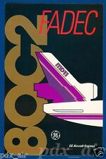 RARE GENERAL ELECTRIC GE AIRCRAFT JET ENGINES FADEC 80C2 MD-11 LARGE STICKER