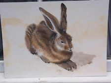 CLIVE FREDRIKSSON AFTER ALBERT DURER RABBIT SIGNED WATERCOLOR PAINTING ON BOARD
