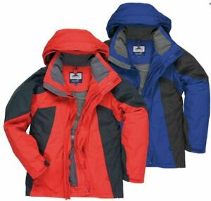 PORTWEST Technik Ontario Jacket Waterproof Windproof Hood TK82 £60 2XL XXL RED