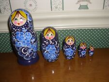"Gabriella'S Gifts-6"" Russian Nesting Dolls-6""H-5Pc Set-F-Dk Blue-As Shown -2018"