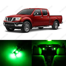 5 x Green LED Interior Light Package For 2005 - 2013 Nissan Frontier