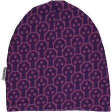 *NEW* MAXOMORRA - purple tree Organic Cotton Winter Hat - size 8-12 years