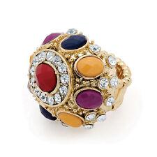 Modeschmuck-Ringe aus Edelstein mit Kristall