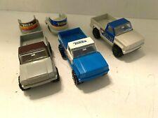 Lot Of Three Tonka Pickup Trucks And Two Horse Trailers
