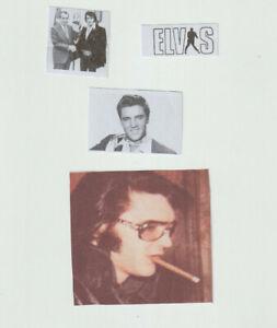 Lot of 4 Elvis Aaron Presley stickers Your a Elvis fan id Bid Now son go on Bid!