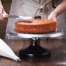 "Aluminium Alloy 12"" Rotating Revolving Cake Turntable Platform Decorating Stand"