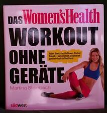 Das Women's Health Workout ohne Geräte Fitness-Buch Martina Steinbach NEUWERTIG