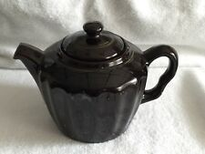 Vintage Royal Canadian Art Pottery Teapot Brown Gold 4 Cups