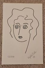 1988 PHYLLIS DILLER DRAWING OF SARAH ON PAPER COMEDIAN ACTRESS LEGEND
