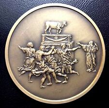 FRENCH PAINTER / NICOLAS POUSSIN 1594-1665 / ADORATION OF GOLD BRONZE MEDAL M100