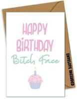 FUNNY BIRTHDAY Card Sister Brother Dad Mum Uncle Best Friend Banter Rude /EU