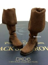 Hot Toys DX06 Pirates of Caribbean Jack Sparrow 1/6 Scale Brown Boots