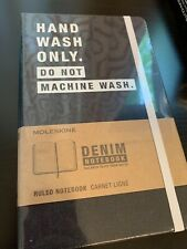 "NEW Moleskine Limited Edition DENIM Ruled Notebook  5"" x 8.25"""
