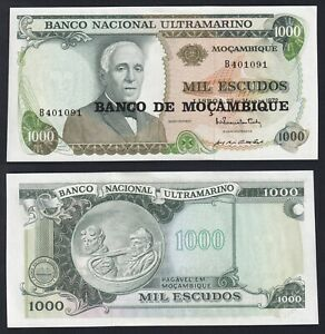 Mozambico 1000 escudos 1972 (1976) FDS-/UNC-  B-04