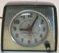 1950's Art Deco General Electric Telechron Clock Lighted Dial Vintage GE Retro