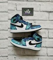 New Deadstock Air Nike Jordan 1 Retro High OG Tie Dye (PS) KIDS UK 12.5 US 13C