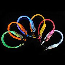 LED Nylon Pet Cat & Dog Collar Night Safety Light-up Flashing Glow In The Dark