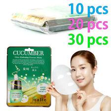 [Malie] CUCUMBER Facial Mask Sheet Essence 10-30pcs Korean Beauty Cosmetics