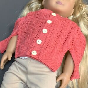 Coarl Cardigan Sweater From American Girl Kit's Photographer Outfit Retired Toys