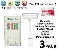 3x SALIVA/ORAL DRUG TEST DRUG SCREEN DRUG TESTING KIT. MOST STREET DRUGS TESTED
