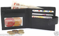 MEN'S LUXURY SOFT BLACK QUALITY REAL LEATHER WALLET CREDIT CARD HOLDER PURSE 421