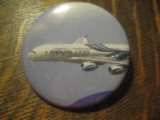 Malayasia Airlines MH MAS Airbus 380 Jet Airplane Advertisement Button Pin $20