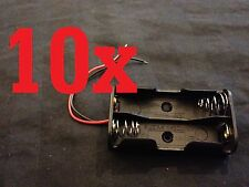 2 AA Size Battery Cell Holder Box DC Case aa 10x 10 pieces   b23