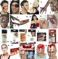 HALLOWEEN FANCY DRESS COSTUME HORROR LATEX MAKE UP PROSTHETIC WOUND SCAR EFFECTS