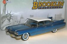 Brooklin BRK 189, 1960 Cadillac Series 62 Six-Window Sedan, blue/white, 1/43