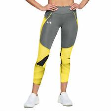Under Armour UA HeatGear Ladies Capri Crop Graphic Sports Running Leggings M
