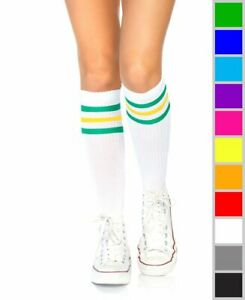 New Leg Avenue 5614 Athletic Striped Knee High Socks