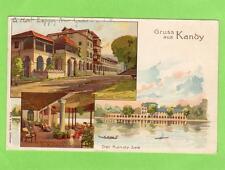 Early Gruss Aus Kandy Ceylon Sri Lanka used 1908