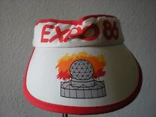 Vintage WORLD EXPO 86 VISOR Tennis Sun Snapback Trucker Farmer Hat Cap