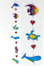 Sealife suncatcher Fish Dolphin Whale Turtle Squid Seahorse heart FREE SHIPPING