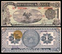 MEXICO 1916 Revolutionary Mexico Gobierno Provisional De Mexico 1 PESO XF