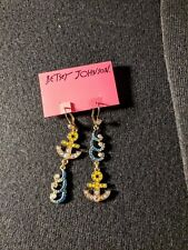 Shape Anchor Waves Drop Earrings Nwt Over 60% Off Betsey Johnson Jewelry Ship