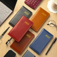 2022 Notebook Agenda Planner Weekly Pocket Sketchbook Calendar Diary Leather