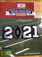 NCAA College Football 2021 CFP Championship Game Patch - Alabama & Ohio State